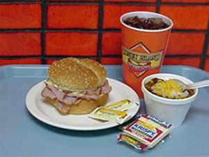 Ham Sandwich and Chili
