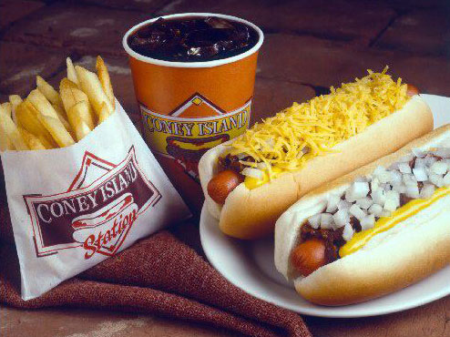Coney Island Dogs, Fries, Soda