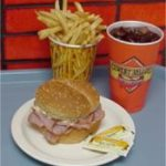 Ham Sandwich, Fries, Soda